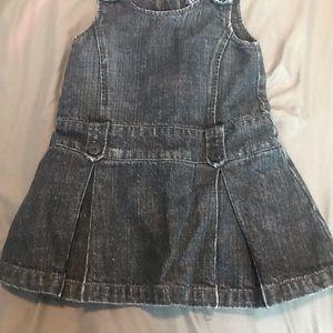 GAP girls Jean pleated dress